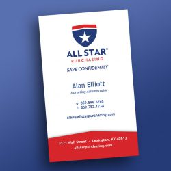 All Star business card