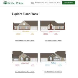floor plans web page