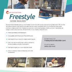 Freestyle Scene Builder sales sheet