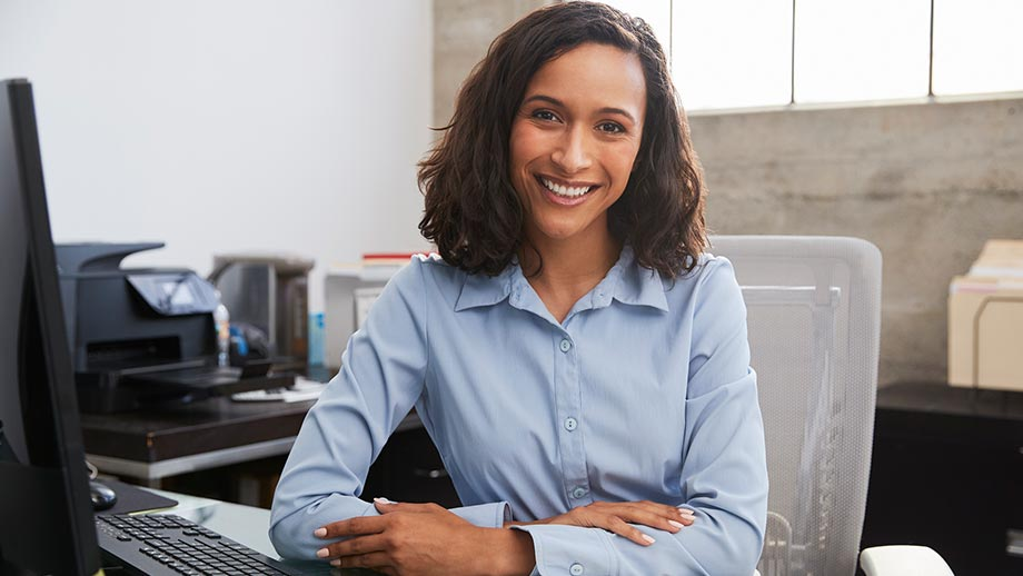 receptionist at marketing agency